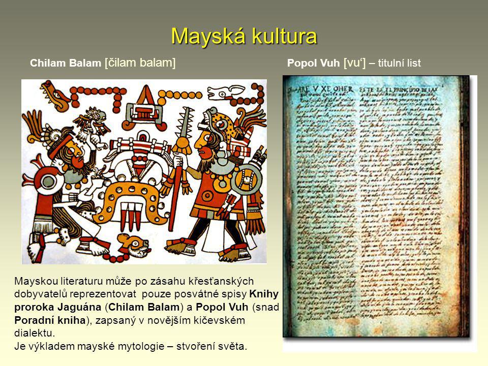 Mayská kultura Chilam Balam [čilam balam]